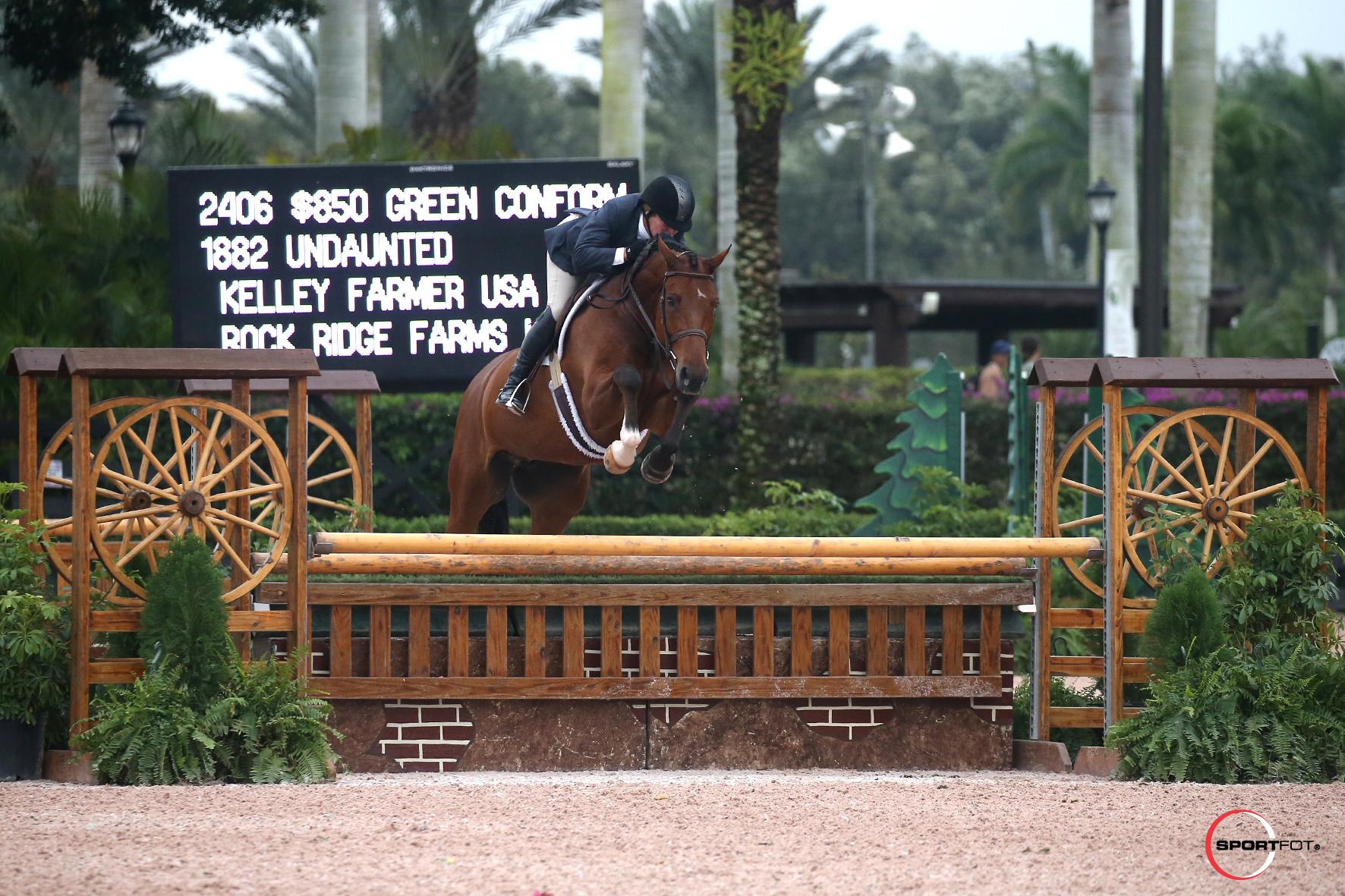 Kelley Farmer and Undaunted. Photo ® Sportfot