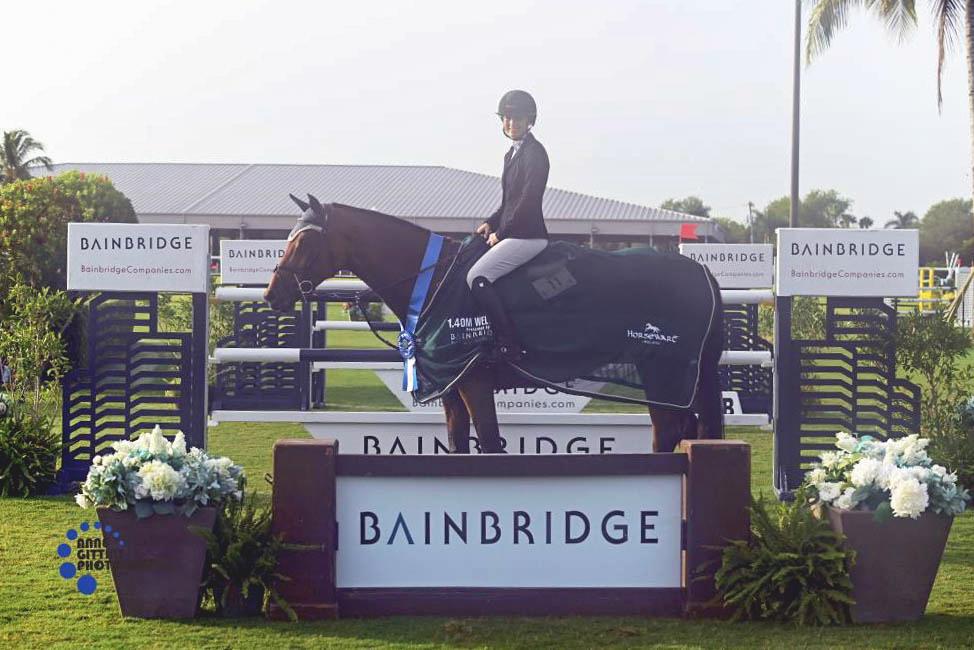 Tanimara Macari and Feminka topped the Bainbridge Companies 1.40m Open Stake. ©Anne Gittins Photography