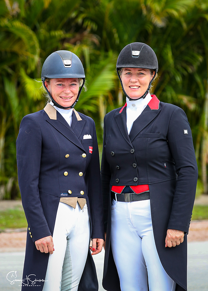 Rikke Poulsen (DEN) and Croatia's Karen Pavicic tie for first place in the Future Challenge Prix St Georges class, both booking a place in the final in week 12.