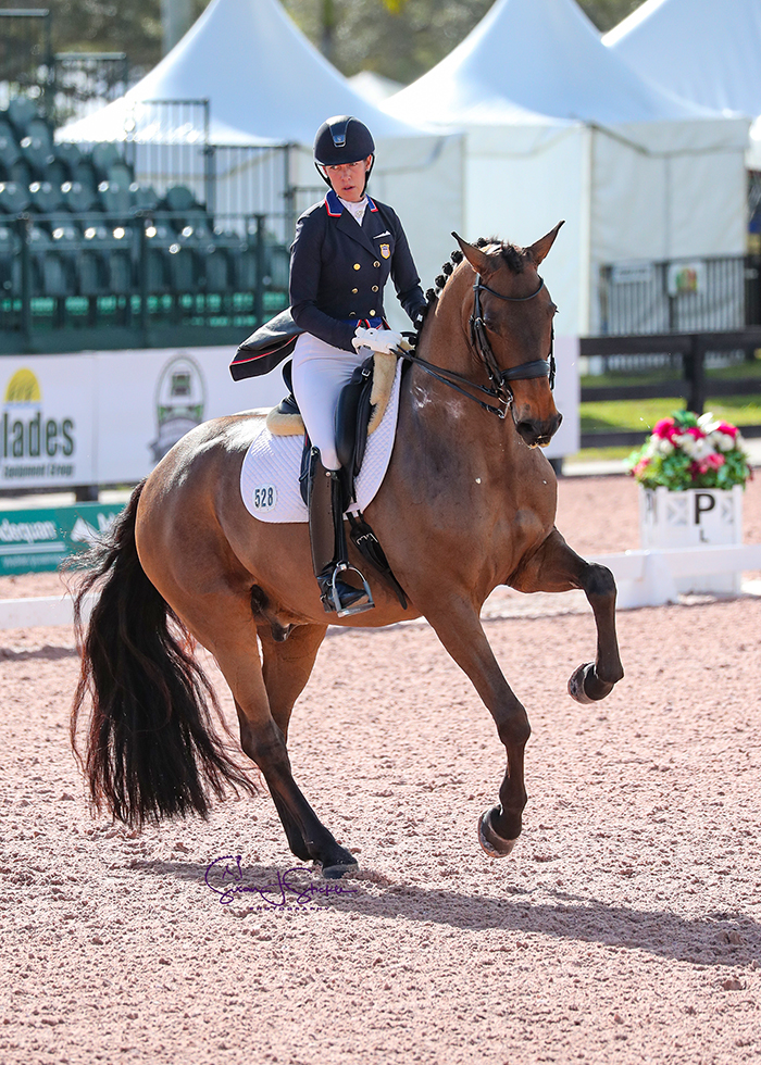 Lonoir returns to the ring and to winning ways under Olivia LaGoy-Weltz (USA), topping the  FEI Grand Prix CDI-W class with over 73%.