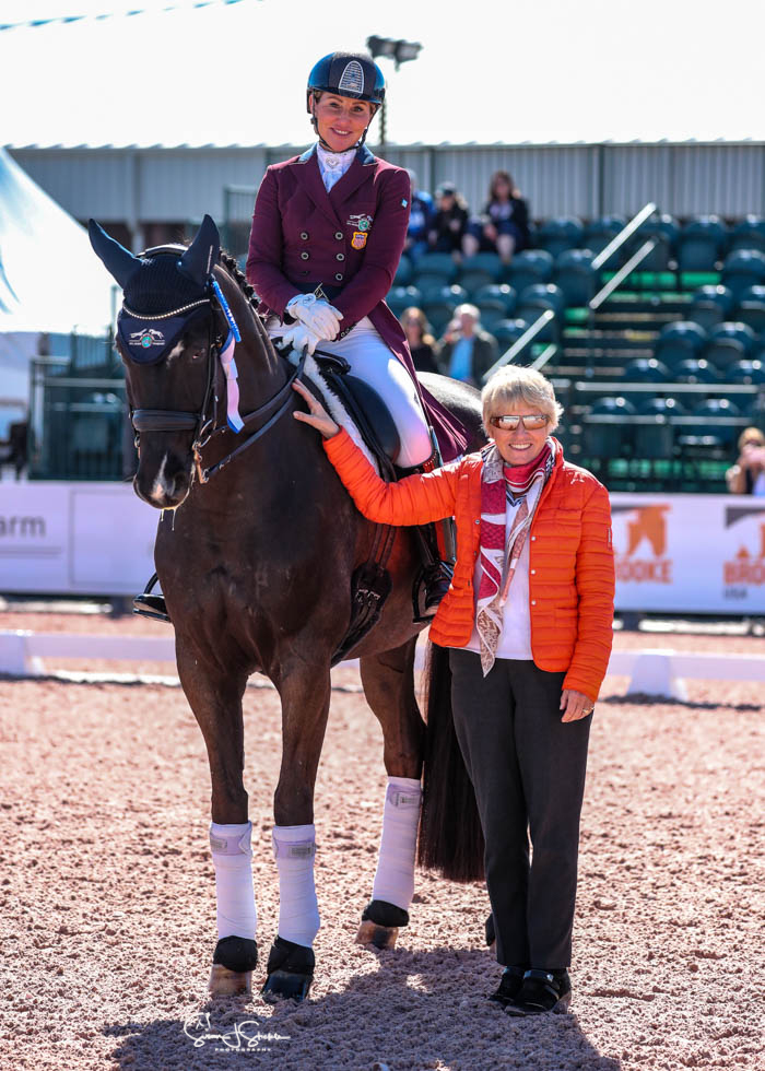 Susan Dutta on Don Designer DC with judge Katrina Wuest from Germany. ©️Susan Stickle.
