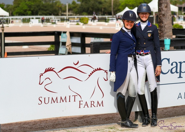 Sarah Lockman and Heather Blitz (Limei De Lys) book their places in the Future Challenge final, which takes place in week 12 in the main Stadium Arena. ©️Susan Stickle.