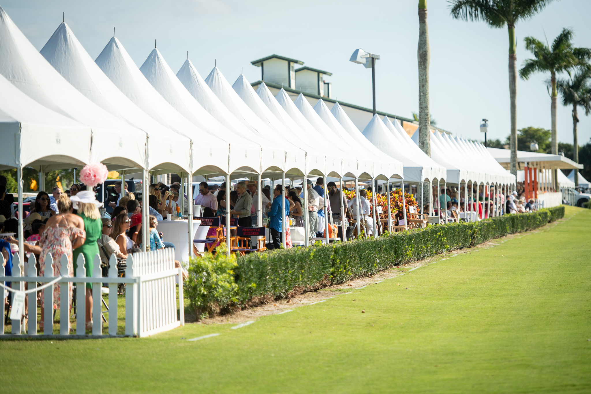 Party tent for International Polo Club